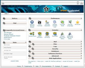 صفحه اصلی سی پنل - Cpanel لینوکس