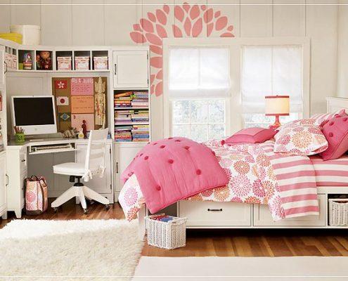 رنگ صورتی در طراحی دکور اتاق خواب 2
