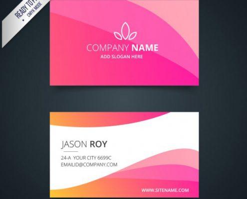 رنگ صورتی در طراحی کارت ویزیت 3