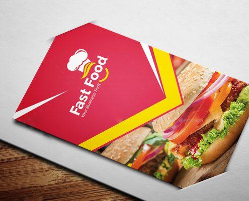 رنگ قرمز در طراحی بروشور تبلیغاتی