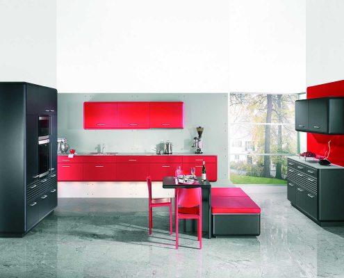 رنگ قرمز در طراحی دکور آشپزخانه