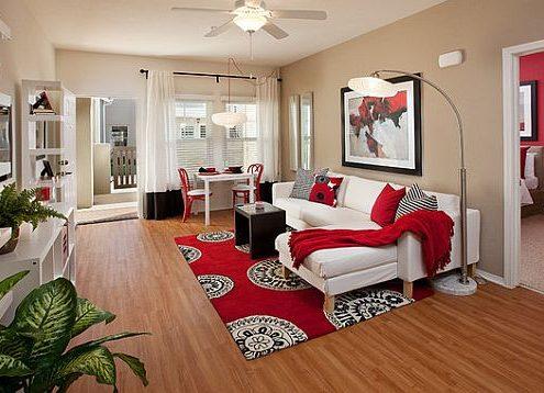 رنگ قرمز در طراحی دکور منزل