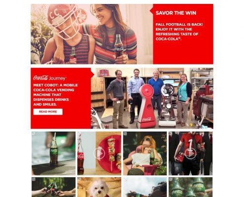 رنگ قرمز در طراحی سایت کوکاکولا