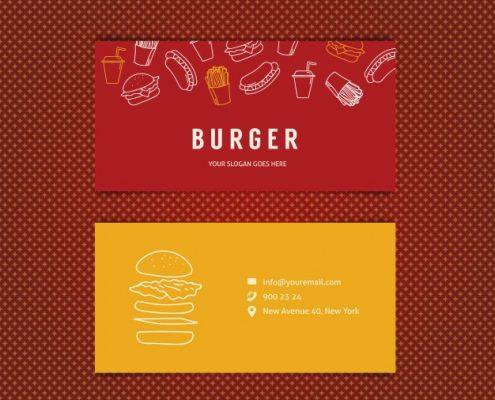 رنگ قرمز در طراحی کارت ویزیت
