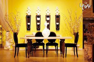 رنگ زرد در رنگ اتاق و منزل