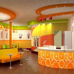 رنگ نارنجی در رستوران و فست فود