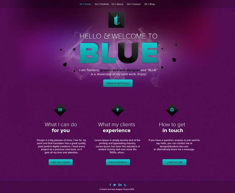 روانشناسی رنگ ارغوانی در طراحی سایت
