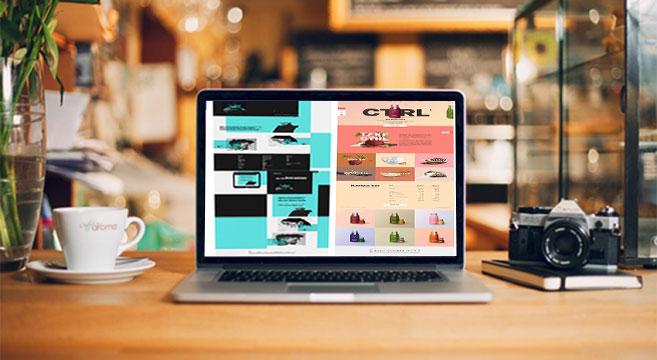 نمونه کار طراحی سایت با فتوشاپ