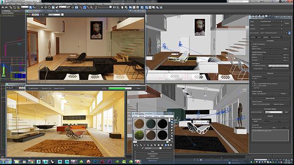 کاربرد نرم افزار تری دی مکس 3D MAX - آموزشگاه معماری