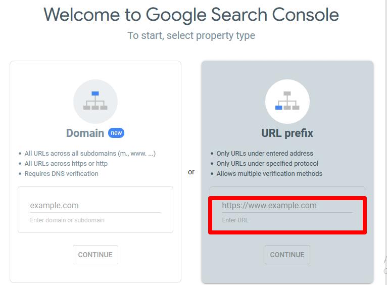 اضافه کردن دامنه به گوگل سرچ کنسول