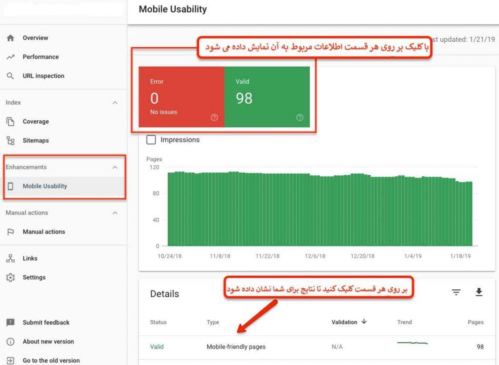 آموزش Mobile Usability در گوگل سرچ کنسول